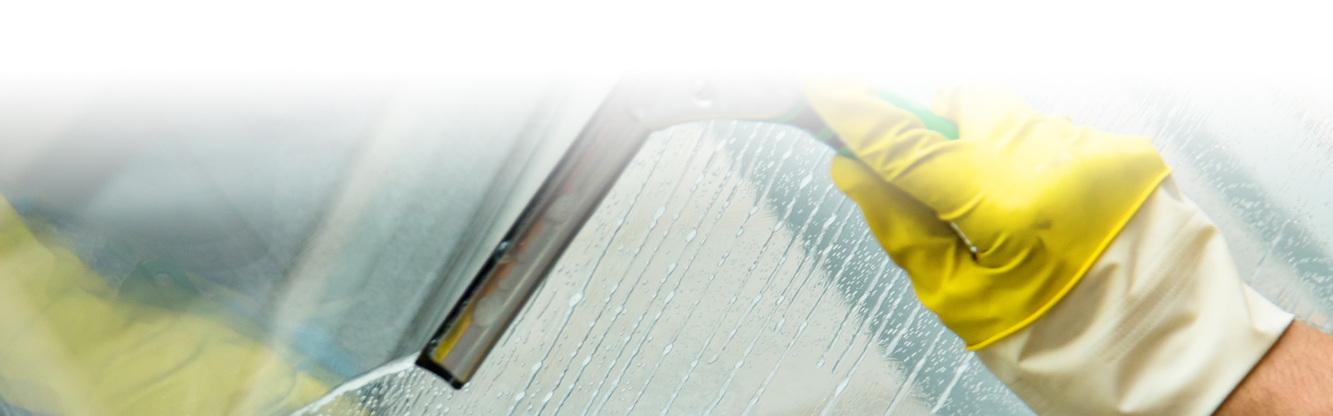 Reinigung von Glasflächen