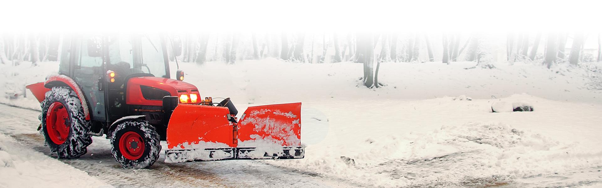 Fahrzeug was gerade Schnee beräumt
