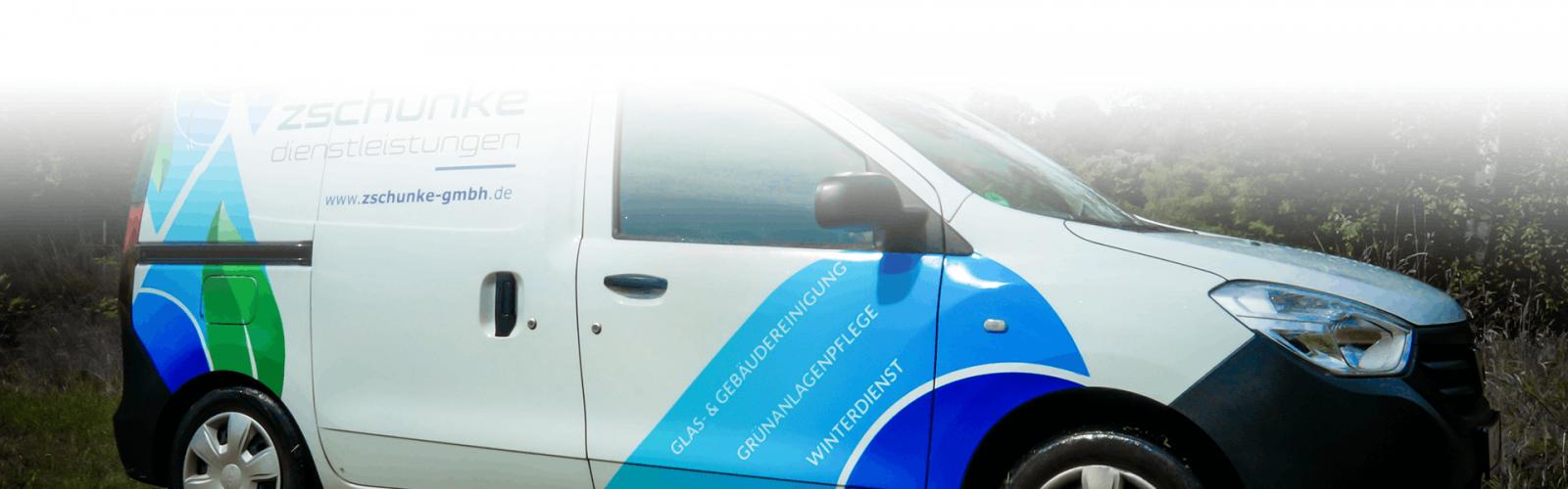 Ein Fahrzeug der Firma Zschunke GmbH