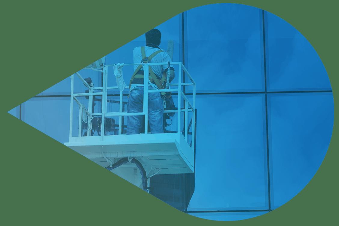 Fassadenreinigung und Glasflächenrenigung